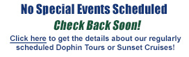 Link to special events: No special events scheduled at this time.